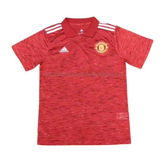 camisetas polo manchester united rojo 2020-21
