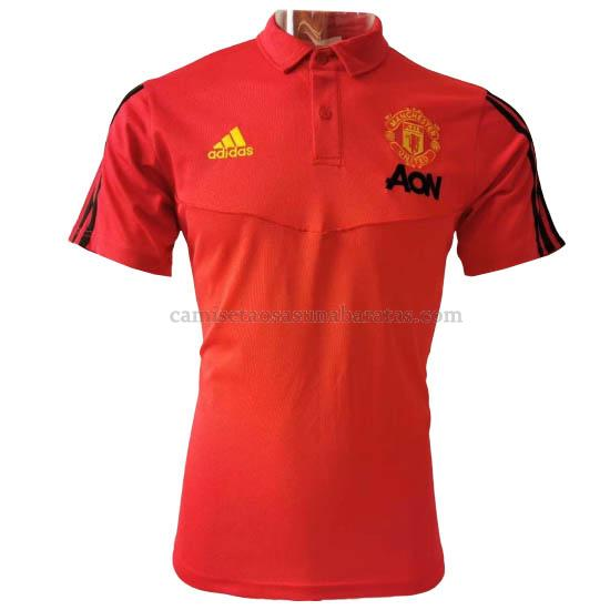 camisetas polo manchester united rojo 2020