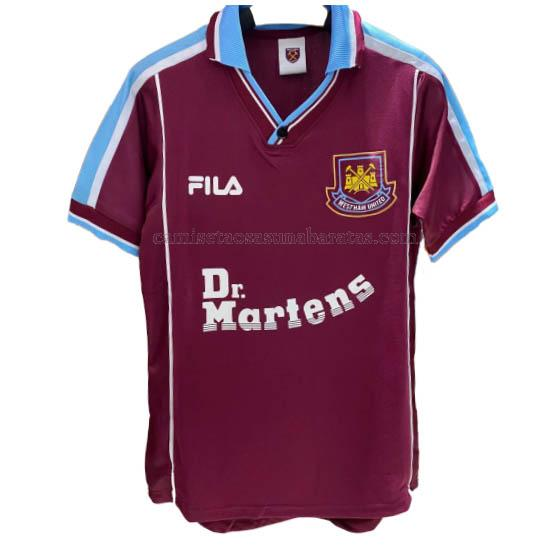 camisetas retro 1ª equipación del west ham united 1999-2000